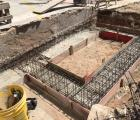 Confecção de sapatas dos muros e lixeira (Av. Santa Leopoldina) (2)