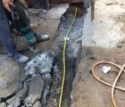 Passagem tubulação do gás das lojas - Rua Ibiraçu